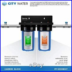 ISpring WGB21B 2-Stage Whole House Water Filtration System, 10 x 4.5 Big Blue