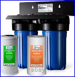 ISpring WGB21B 2-Stage Whole House Water Filtration System with 10 x 4.5 and