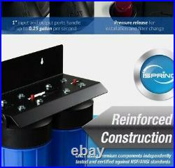 ISpring WGB21B 2-Stage Whole House Water System, 4.5X10 Filter 1 Ports