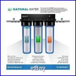 ISpring WGB32BM 3-Stage Whole House Water Filtration System withIron & Manganes