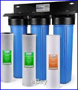ISpring WGB32B 3-Stage Whole House Water Filtration System with 20-Inch Big Blue