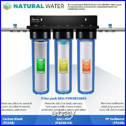 ISpring WGB32B-KS 3-Stage Heavy Metal Reducing Whole House Filtration System