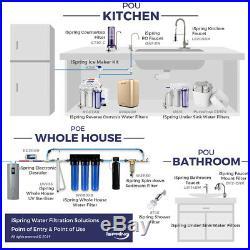 ISpring Whole House Water Filter 2 stage Big Blue 1 Port+Carbon, Sediment filter