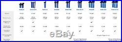 ISpring Whole House Water Filter 3-stage Big Blue 1 Port+Carbon, Sediment filter