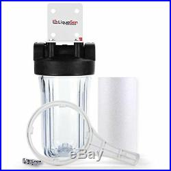 LiquaGen Whole House Big Blue Pre Filter System with Sediment Filter 4.5 x 20