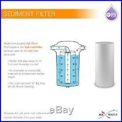 MaxWater Sediment Water Filter Cartridge Whole House Big Blue 1 Micron 10x4.5