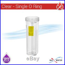 Max Water 1Port 3 Stage Big Blue 20x4.5 Clear Whole House Well Water Filter S