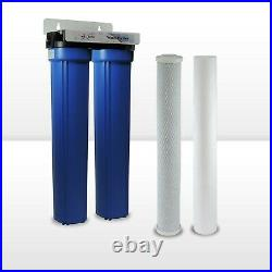 Max Water 2 Stage 20 x 2.5 WH Blue Housing Water Filter, Sediment Carbon CTO