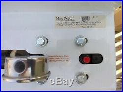 Max Water 3 Stage 20 Big Blue 1 Port Whole House Water Filter + Pressure Gauge