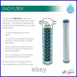 Max Water 3 Stage 20 Whole House Clear Water Filter System, Sediment Carbon CTO