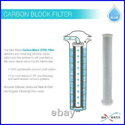Max Water 3 Stage 20 x 2.5 Iron Manganese Whole House Water Filter System