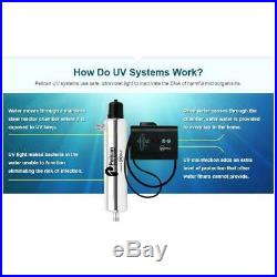 Pelican Whole House Water Filter System 14 GPM Ultraviolet Light Stainless PUV14
