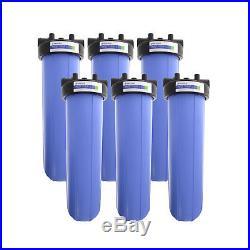 Pentek 150467 20 Inch Big Blue Whole House Filter Housing 3/4 NPT (6 Pack)