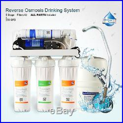 Powered Whole House Water Filter Purifier Fast Flow With 5 Stage Filters 50 GPD