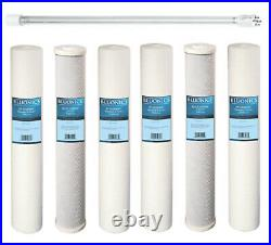 Replacement Filter Set for our Well Water System 2.5x20 + UV bulb