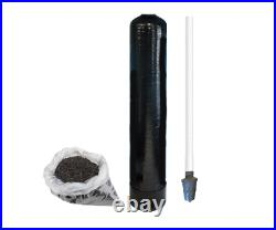 Replacement Water Filter Tank + 1 cu ft Activated Carbon GAC & Riser Tube 9x48