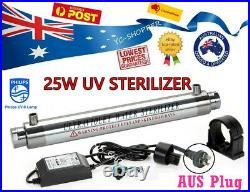 S. Steel 25W Ultraviolet Sterilizer Whole House Water Filter System Tank Water