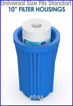 SimPure 3 Stage Big Blue 10 Whole House Water Filter System for Water Softners