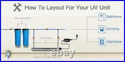 Sterilizer Filter Uv Water Sterilizer Light Canister Bulb Whole House 12GPM 110V