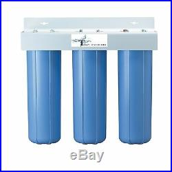 Triple Big Blue Housing Water Filters Sizes 4.5 X 20 (filters Not Included)