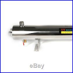 UV Purifier Ultraviolet Light Water Sterilizer Whole House 24 GPM