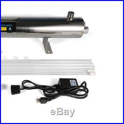UV Purifier Ultraviolet Light Water Sterilizer Whole House 24 GPM with 2 lamps