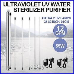 Ultraviolet Filter UV Water Sterilizer Purifier 12GPM Best Whole House Top