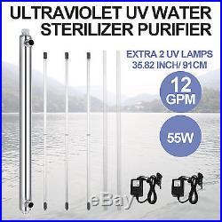 Ultraviolet Filter UV Water Sterilizer Purifier Inlet Outlet Algae Whole House