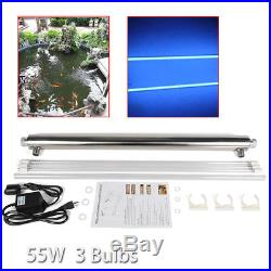 Ultraviolet Light Water Purifier Whole House Sterilizer 12GPM with 2 Extra Bulbs