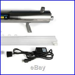 Ultraviolet Light Water Purifier Whole House Sterilizer 24 GPM + Extra Bulbs USA