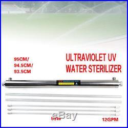 Ultraviolet Light Water Sterilizer Whole House UV Purifier 12 GPM +Many Extras