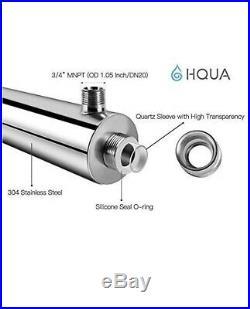 Ultraviolet Water Purifier Whole House Purification Sterilizer 55W 12GPM 120V