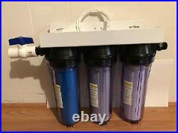 WHOLE HOUSE HARD WATER SOFTENER 3 STAGE CLEAR SYSTEM, 3/4 in. SALT FREE THE BEST