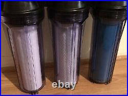 WHOLE HOUSE WATER SOFTENER 3 STAGE CLEAR SYSTEM, 3/4 in. SALT FREE THE BEST