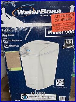 WaterBoss 900 Hard-Water Softener Big Boss Built-in Self Cleaning Filter, White