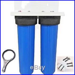 Water Filter DUAL BIG BLUE HOUSING WATER FILTERS SIZES 4.5 X 20 Whole House LC