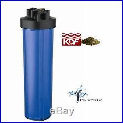 Water Filter KDF85/GAC FILTER IRON/H SULFIDE 20x4.5 Big Blue Housing/Filter