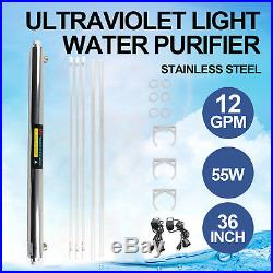 Water Purifier Ultraviolet Light Filtration Whole House UV Sterilizer 12GPM USA