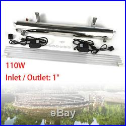 Water Purifier Ultraviolet Light Whole House Sterilizer 24 GPM +2 UV Bulbs