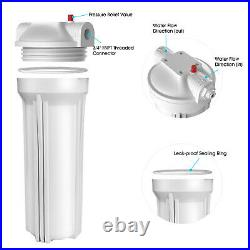 Whole House 10 Water Filter System 3 Stage Filtration + Sediment Water Filter