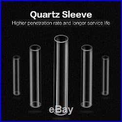 Whole House 12 GPM Ultraviolet Light Water Filter 55W +2 UV Bulb+2 Quartz Sleeve