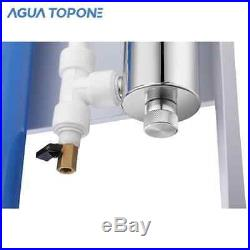 Whole House 12gpm 3 stage water filter purifying equipment WithUV 1'inlet/outlet