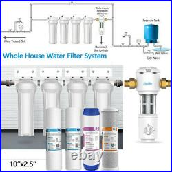 Whole House 4-Stage Water Filter System Plus Spin Down Sediment Water Pre Filter