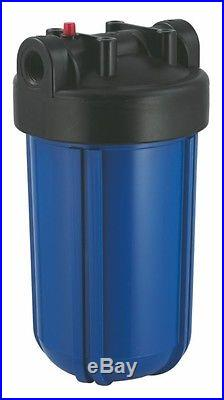 Whole House 9x48 Carbon Filter Manual Valve/ 4.5x10 Big Blue Sediment Filter