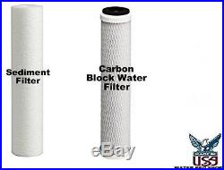 Whole House Big Blue Water Filtration System 20 Clear Commercial Filters 1 NPT