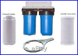 Whole House Duplex Water Filter Scale Control and Taste and Odour Filters