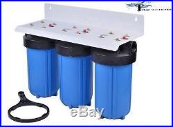 Whole House Filter (3) Big Blue 10x4.5 1 NPT- PR KDF85-GAC/Carbon/Sediment