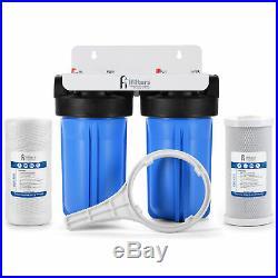 Whole House Filtration System 2 Stage Sediment Chlorine Taste Odor VOCs 1 Ports