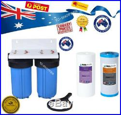 Whole House Jumbo Big Blue Water Filter System 10x 4.5 INCLUDING FILTERS