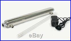 Whole House Ultraviolet UV Lamp Sterilizer 55W, 48 lpm